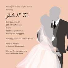 Wedding Couple Bliss Sophisticated Wedding Invitations