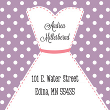 Stitched Bride White Polka Dots Stickers