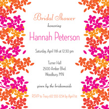 Understated Vivid Bright Blooms Square Invitations