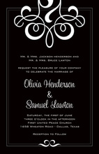 Truly Delicate Flourish Formal Party Invitations