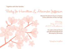 Peach Posies Wedding Shower Invitations