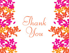 Bright Blooms Thank You Cards
