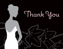 Charming Beautiful Bride Flowers Thank You Cards