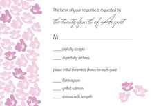 Heart In Bloom Pink RSVP Cards
