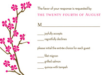 Bright Charming Classic Cherry Blossom RSVP Cards