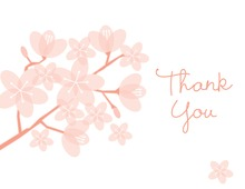 Beautiful Bridal Peach Posies Thank You Cards
