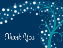 Playful Night Swirl Midnight Blue Thank You Cards