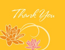 Bright Floral Breeze In Yellow Thank You Cards