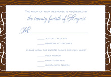 Grand Rich Chocolate Border RSVP Cards