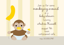 Monkeying Around Baby Shower Invitations