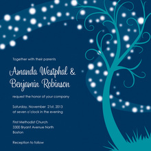 Showcased Night Swirl In Teal Invitations