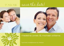 Bright Spring Wedding Save The Date Photo Cards