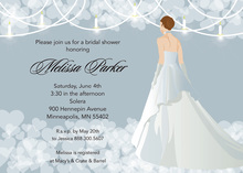 Blue Waiting Bride Shower Bridal Invitations