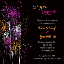 Sparkling Festive Fireworks Event Invitations