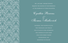 Extra-Ordinary Gate Design Teal Wedding Invitations