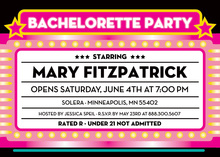 Bachelorette Party In Lights Invitation