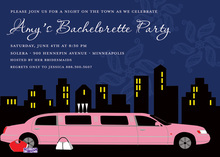 Out On The Town Girly Limousine Invitation