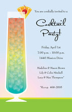 Sunset Bright Cocktail Party Invitations