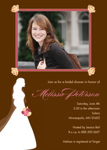 Silhouette Bride Framed Photo Chocolate Invitations