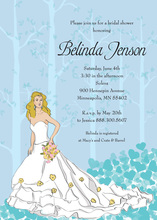 Fairy Tale Character Bride Shower Invitations