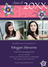 Eggplant Modern Floral Accents Photo Cards