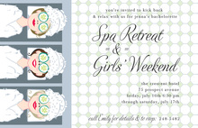 Cucumbers Spa Retreat Invitations
