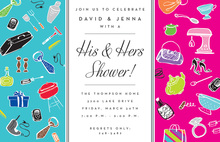 His Hers Couple Shower Invitations