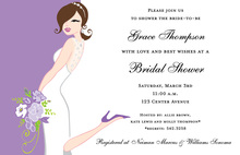 Special Orchid Bridal Invitations