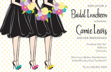Snazzy Maids Bridal Luncheon Invitations