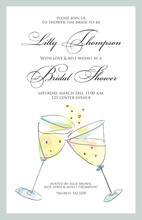 Toasting Special Celebration Champagne Invitations