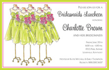 Spring Maids Bridal Luncheon Party Invitations
