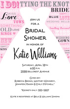 Bride Speak Shower Invitation