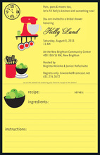 Hip Kitchen Recipe Invitations