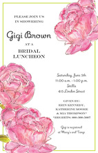 Elegant Peonies Formal Invitations