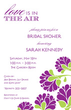 Modern Lush Purple Invitation