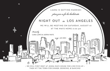 Los Angeles City Skyline Invitation