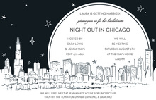 Chicago City Skyline Invitations
