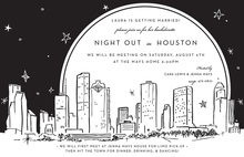Houston City Skyline Invitation