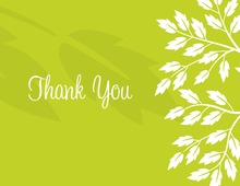 Breeze Leaves Green Thank You Cards
