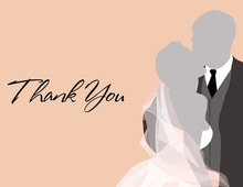 Wedding Couple Bliss Thank You Cards
