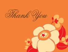 Tangerine Dream Thank You Cards