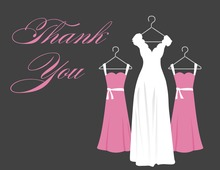 Showing The Beautiful Dress Thank You Cards
