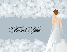 Waiting Bride Classing Illustration Thank You Cards