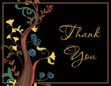 Tale Inspired Abstract Vines Thank You Cards