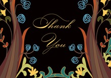 Forest Jubilee In Midnight Time Thank You Cards