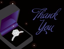 Sparkle Bling Ring Midnight Time Thank You Cards