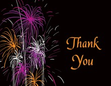 Midnight Festive Firework Thank You Cards