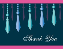 Classy Retro Chandelier Thank You Cards