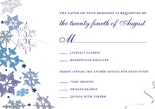 Blue Winter Snowflakes RSVP Cards