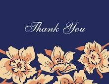 Premium Quality Floral Soire Thank You Cards